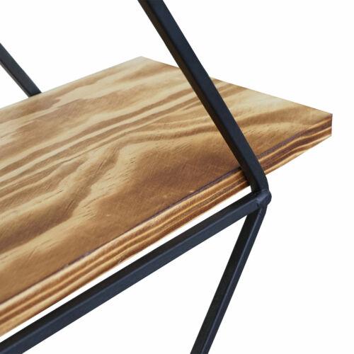 Industriedesign Echtholz 60x55x12cm Hängeregal Regal Wandregal HWC-A80