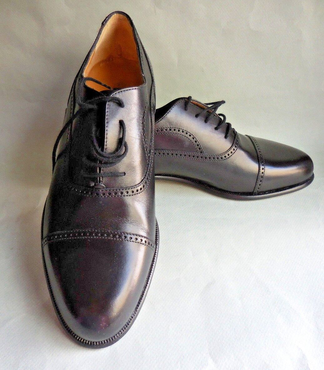 MEN'S ANDRE A GETTY WING TIP OXFORD SHOES   NEW  BLACK  10D