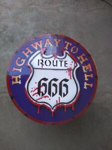 Route 66 Hot rodding Ford Chevrolet tin metal sign MAN CAVE free postage