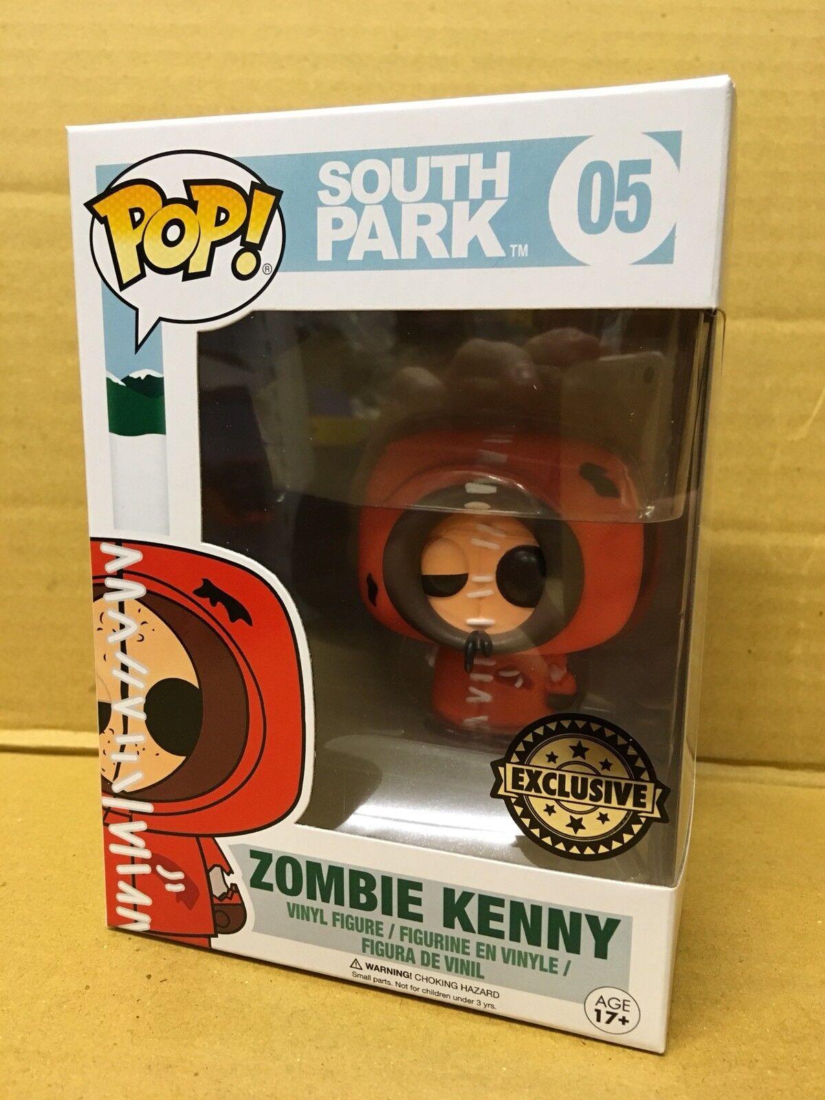 FUNKO POP  South Park ZOMBIE KENNY Exclusive Vinyl Figure Brand New RARE