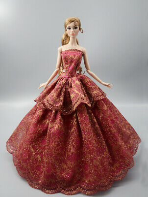 Fashion Princess Party Dress//Evening Clothes//Gown For 11.5 inch Doll b27
