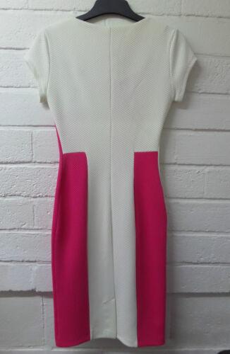 Womens Ladies New Long Smart Formal Midi Pink Stripe Waffle Bodycon Dress UK8-16