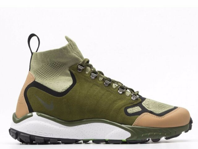 new style 4d8cf d3d6c Nike Air Zoom Talaria Mid Flyknit PRM Mens Size 8 Palm Green Tan 875784-300