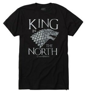 Game-Of-Thrones-KING-IN-THE-NORTH-Stark-Direwolf-T-Shirt-NWT-Licensed-amp-Official