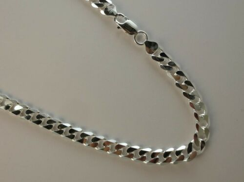 8.5mm Sterling Silver Curb Chain Pure .925 Italian 8,16,18,20,22,24,30 inch