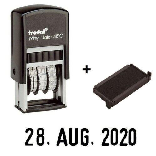 Trodat Datumsstempel 4810 Printy Dater Wortbandstempel schwarz Ersatzkissen
