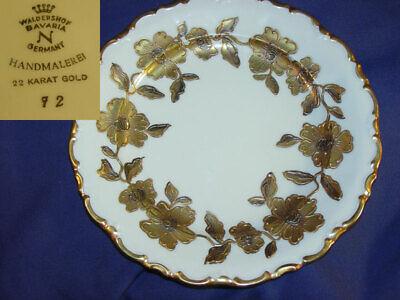 Waldershof Bavaria Germany Handmalerei 22 Karat Gold Plate