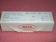 50 Pcs Vishay Dale Resistor Rn55c4701f Res Metal Film 47k Ohm 1 110w