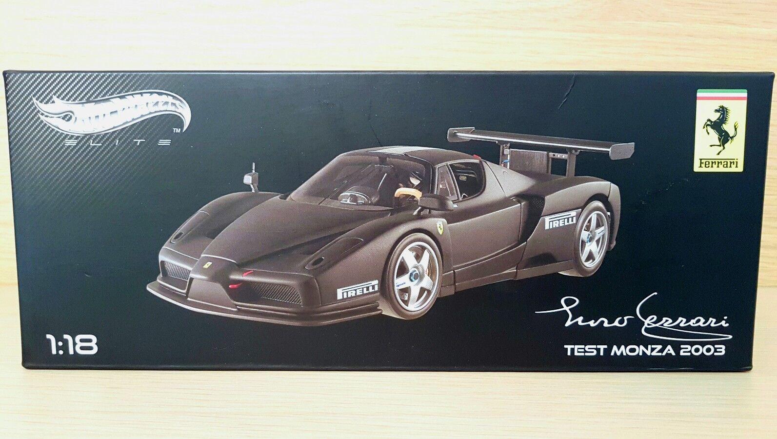 Ferrari Enzo Ferrari Test Monza (2003) scala 1/18 Hot Wheels Elite | Qualité Fiable