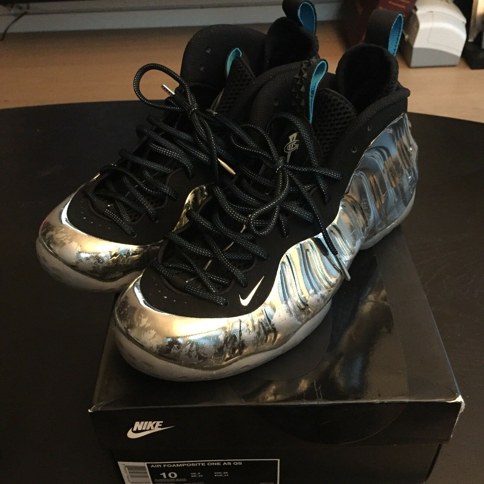 NIKE AIR FOAMPOSITE ONE AS QS CHROMEPOSITE, Sz 10 (USED)
