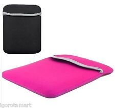 "Pink Reversible 17.3"" Laptop Sleeve Case Bag For ACER APPLE MACBOOK PRO 17 Inch"