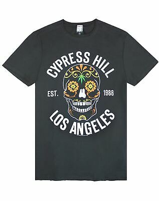 Amplified Cypress Hill Floral Skull Men/'s Charcoal T-Shirt