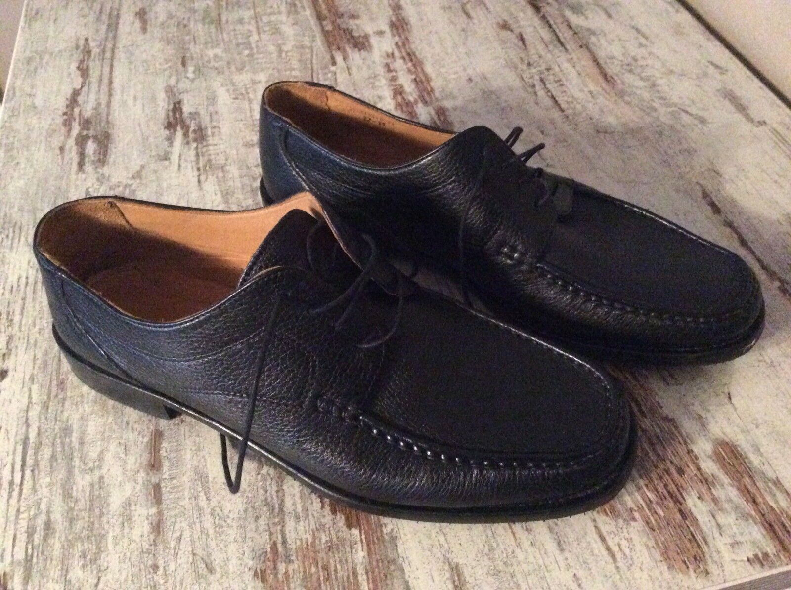 Pitti Buisness Shoes halbschuh Gr.45 TOP leder schwarz
