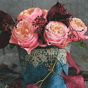 20 Servietten Roses Of Autumn Rosen Pink Rot Romantik Landhaus