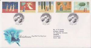 GB-ROYAL-MAIL-FDC-FIRST-DAY-COVER-1996-CHRISTMAS-STAMP-SET-BETHLEHEM-PMK