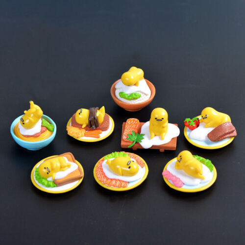 8pcs cute Gudetama Lazy Egg Yellow Egg Omelette eggshell candy food toys rement