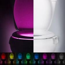 Smart LED Human Motion Sensor Night Light With 8 Color Toilet Seat Lamp NVT :