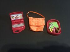 Fisher Price Loving Family Home Dollhouse Red Laptop Bag Desk Set Ships $0 Lot