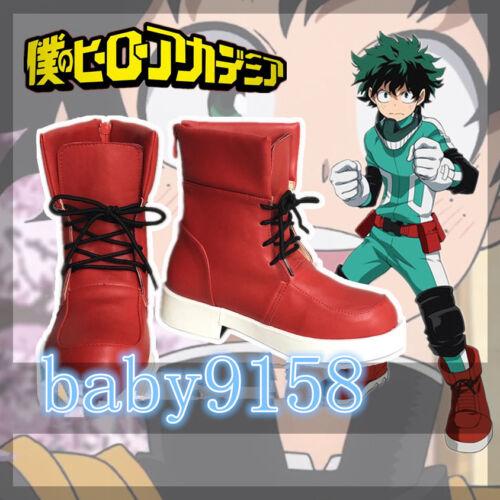 My Hero Academia Baku no Hero Midoriya Izuku Cosplay Shoes Customized MM.538