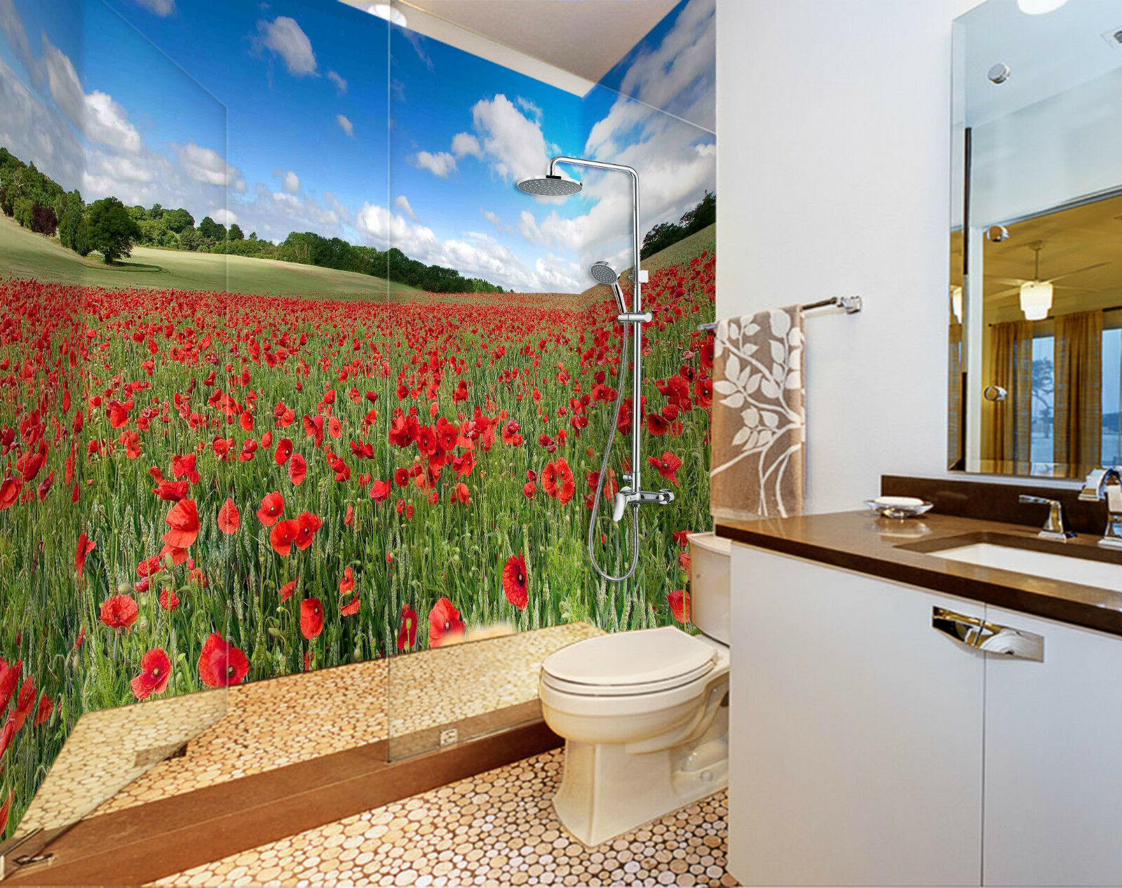 3D Lawn Flowers 097 WallPaper Bathroom Print Decal Wall Deco AJ WALLPAPER CA