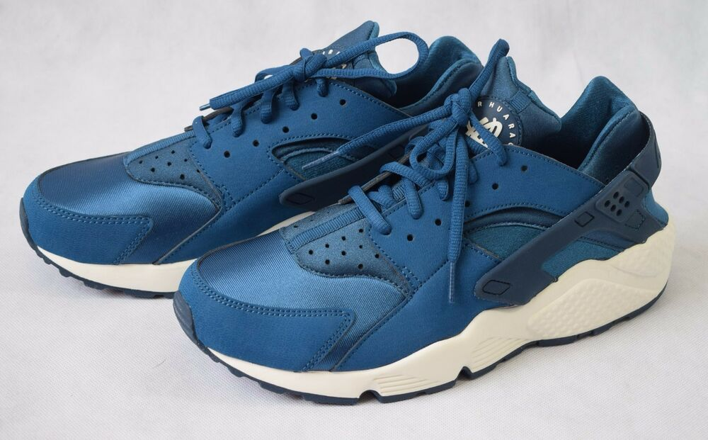 NEW & BOXED Nike Air Huarache Femmes Sneaker Bleu Obliger Sail-UK 9 (1240)-