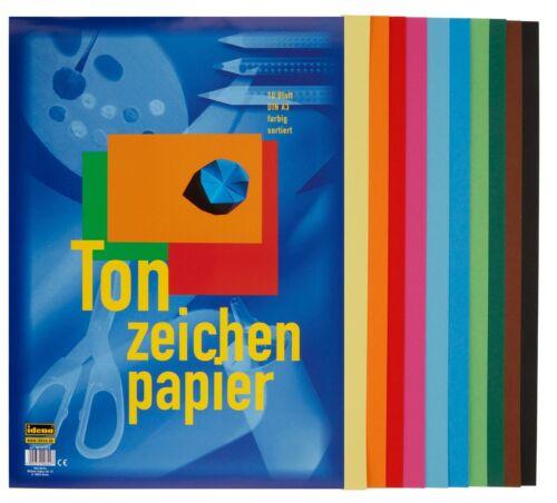 Blatt Tonzeichenpapier 50 5x 10 DIN A3 10 verschiedene Farben