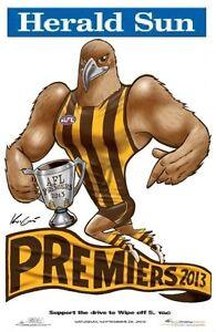 2013-HAWTHORN-HAWKS-GRAND-FINAL-PREMIERS-PREMIERSHIP-WEG-KNIGHT-POSTER-HODGE