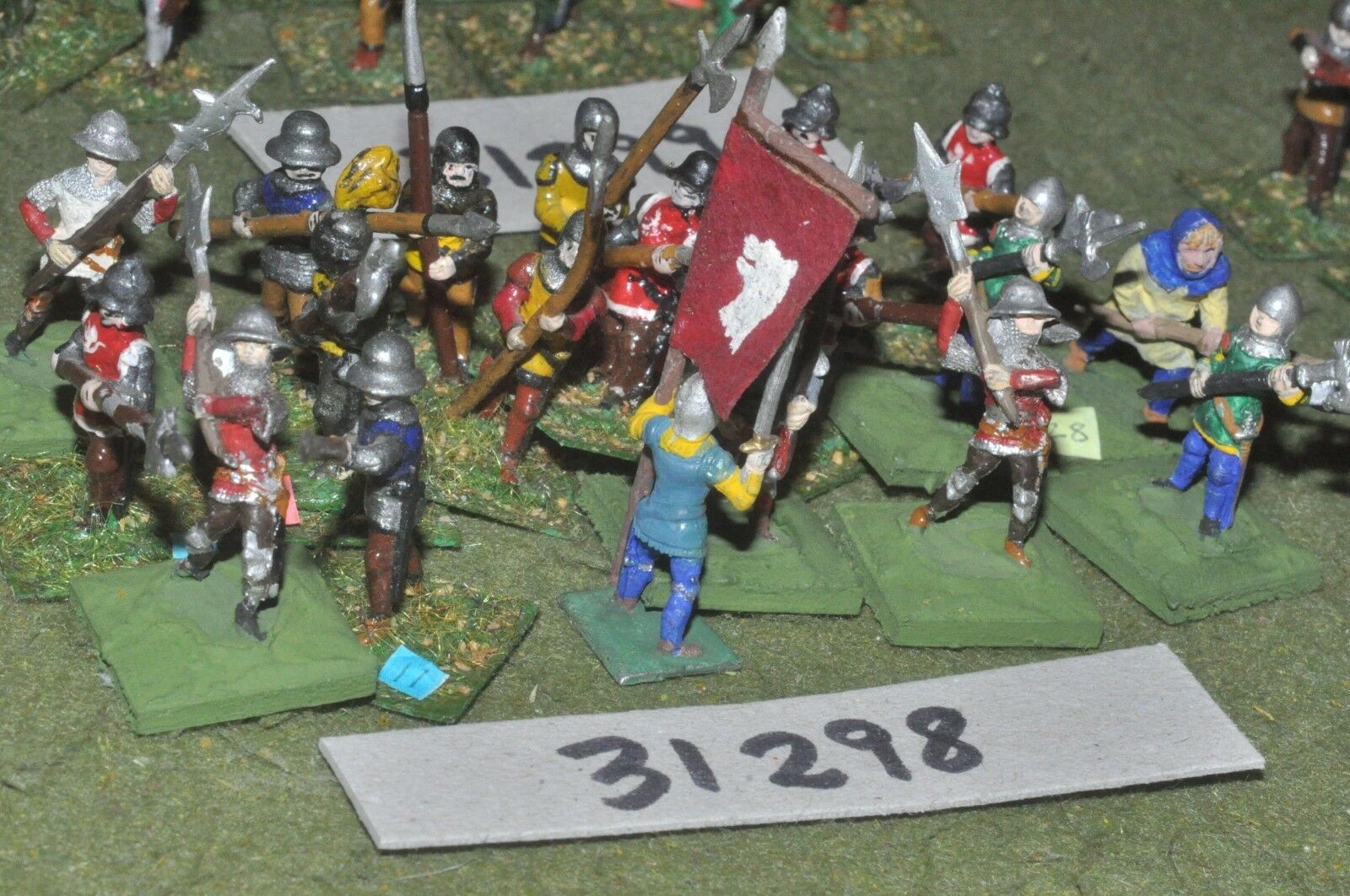 25mm medieval   english - polearms 18 figures - inf (31298)