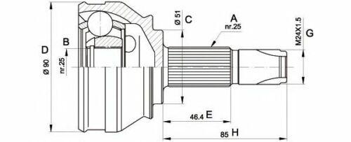Kit giunto omocinetico lato ruota OPEN PARTS CVJ5252.10 ALFA FIAT LANCIA