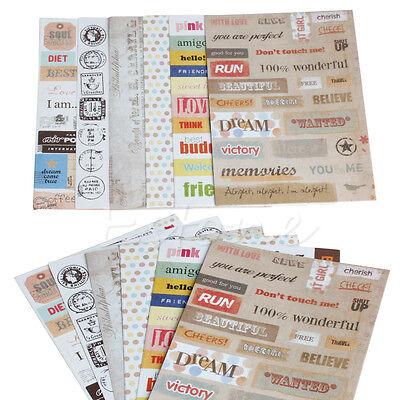6Pcs DIY Calendar Paper Sticker For Scrapbooking Diary Planner Photo Album Decor