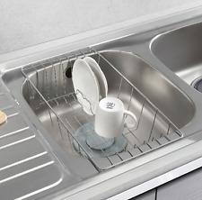 Stainless Steel Dish Drying Half Sink Tray Basket Rack Kitchen Utensils