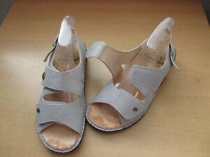 info for 4977c e375a Details zu neuwertige Finn Comfort Damen Schuhe Sandalen 38 D grau/Z