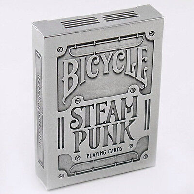 2 Decks Bicycle SteamPunk Silver Standard Poker Playing Cards Brand New Deck