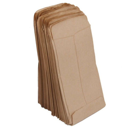 100 pcs//pack Small Kraft Paper Gift Candy Bag Vintage Wedding Brown Paper 6*10cm