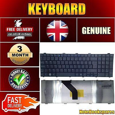 For FUJITSU SIEMENS LIFEBOOK AH530 AH530/GFX Laptop Keyboard UK Layout  Black | eBay