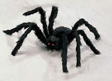 Giant 2 Foot Black Hairy Spider Huge Halloween Haunt Prop Decoration