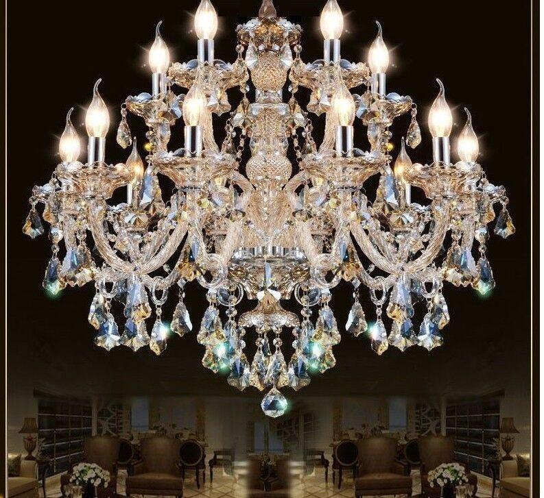 Crystal Pendant Chandelier Living Room Home Lighting Indoor Elegant Lamp Fixture