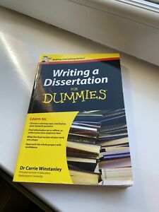 Writing A Dissertation For Dummies 2012
