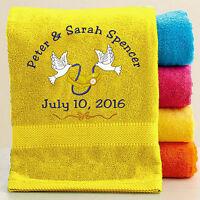 Personalized Bath/beach Wedding/bridal Party Bath Towel W/free Custom Embroidery
