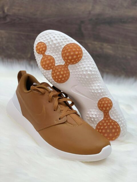 Nike Roshe G Premium Golf Shoes Size 8 PRM Ale Brown White AA1838 200