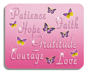 Breast Cancer Survivor Butterflies Mouse Pad Personalize Gifts Ladies Pink Hope