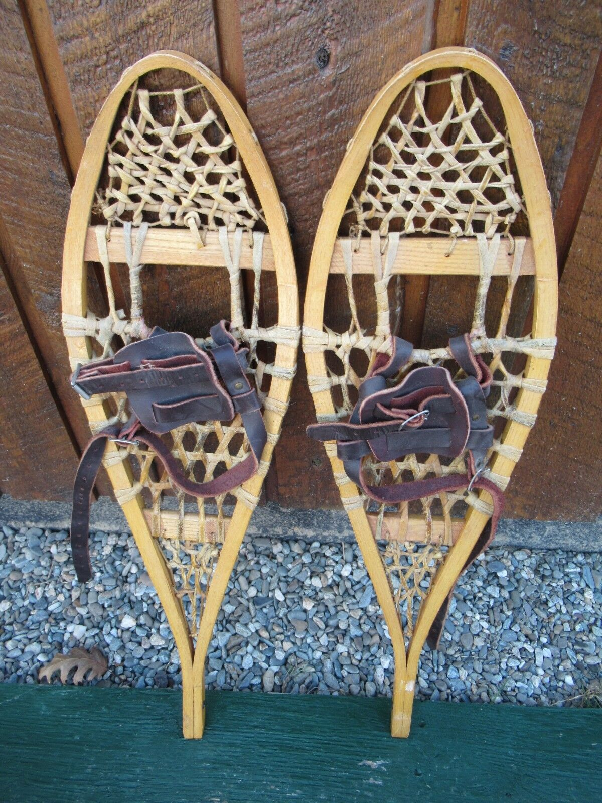 GREAT Snowshoes 29  Long by 8  Wide Leather Bindings Ready to Use