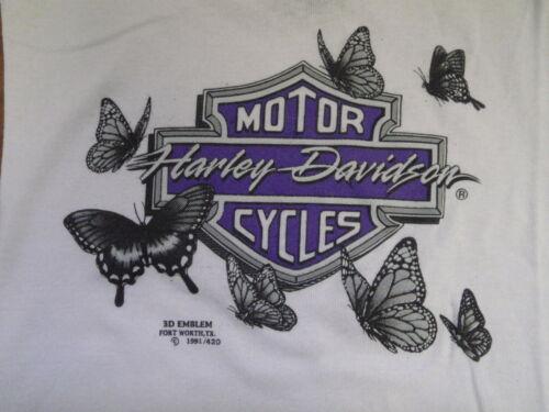 VTG 90s 3D Harley Davidson Ladies Top biker UNWORN motorcycle RARE not 70s 80s