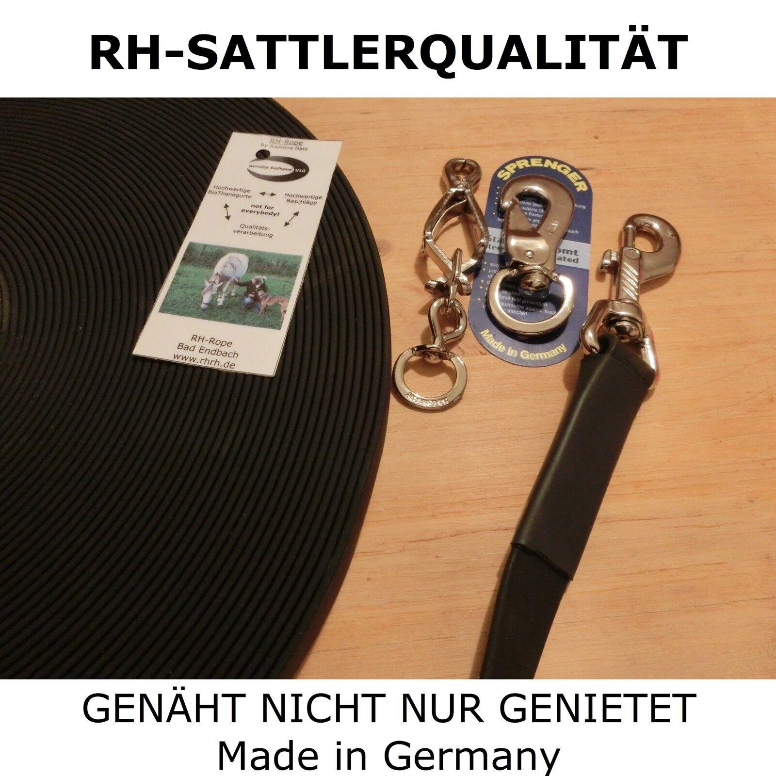8m BioThane Schleppleine schwarz 19mm Schweissleine Suchleine Fährtenleine Fährtenleine Fährtenleine  | Good Design  d5682c