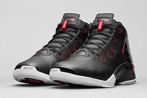 ba04fde7b573 Nike Air Jordan Retro 17 XVII Black Red size 12.5 832816-001. bred ...