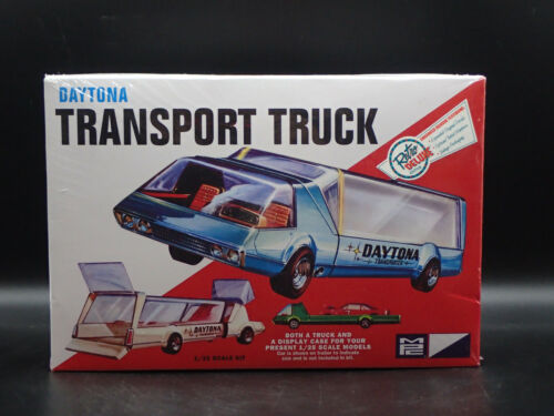 DAYTONA TRANSPORT TRUCK MPC 1:25 SCALE VINTAGE SEALED PLASTIC MODEL KIT SKILL 2