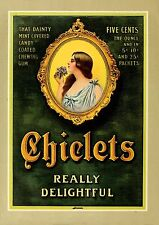 Vintage  Advertising poster  A4 Photo RE PRINT Chiclets ' Really Delightful'