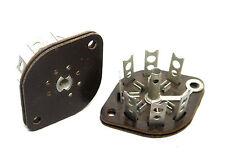 7 Pin Miniature Military Wafer Tube Socket Valve Sockets NOS Mx Signal Corp USA