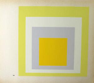 Josef Albers-Hommage to Square II. unsignierter farbsieb pressione (1968).