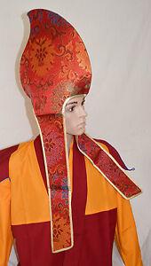 Fairtrade-Buddhist-Tibetan-Monk-Hat-Ritual-Celebration-Ceremonial-Lama-Hat-Nepal